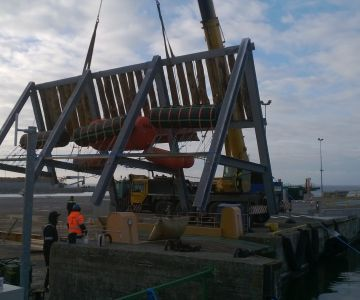Virtsu sadama kai nr 6 paalide vaheliste lainerahustusseinte ehitamine